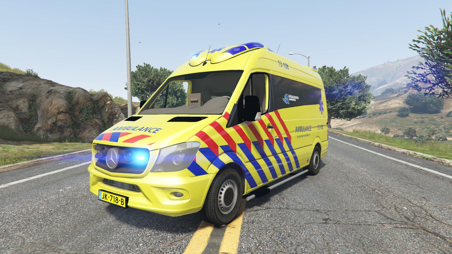 Mercedes Benz Sprinter Ambulance Amsterdam Otaris Gta5