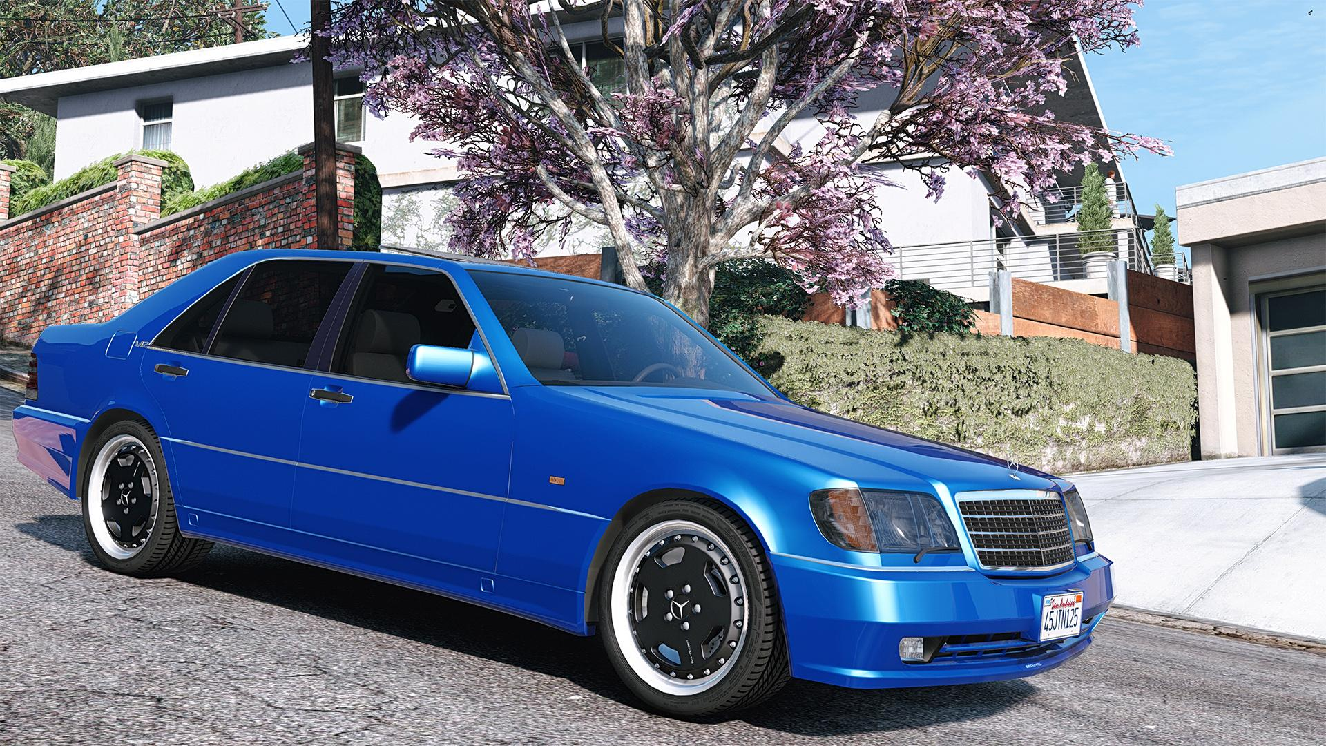 mercedes benz w140 amg add on replace gta5. Black Bedroom Furniture Sets. Home Design Ideas