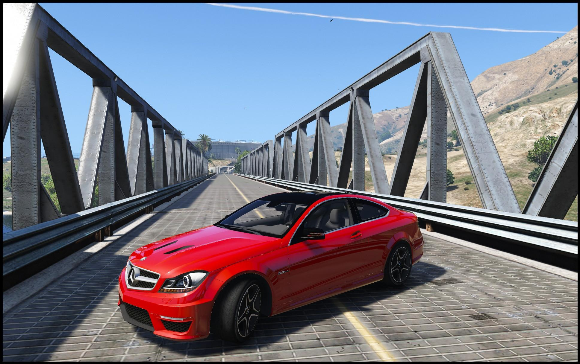 Mercedes benz c63 amg w204 coupe add on replace gta5 for Mercedes benz c63
