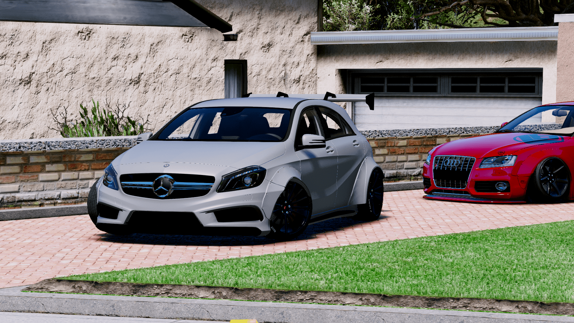 Mercedes Benz A45 Amg Rocket Bunny Add On Replace