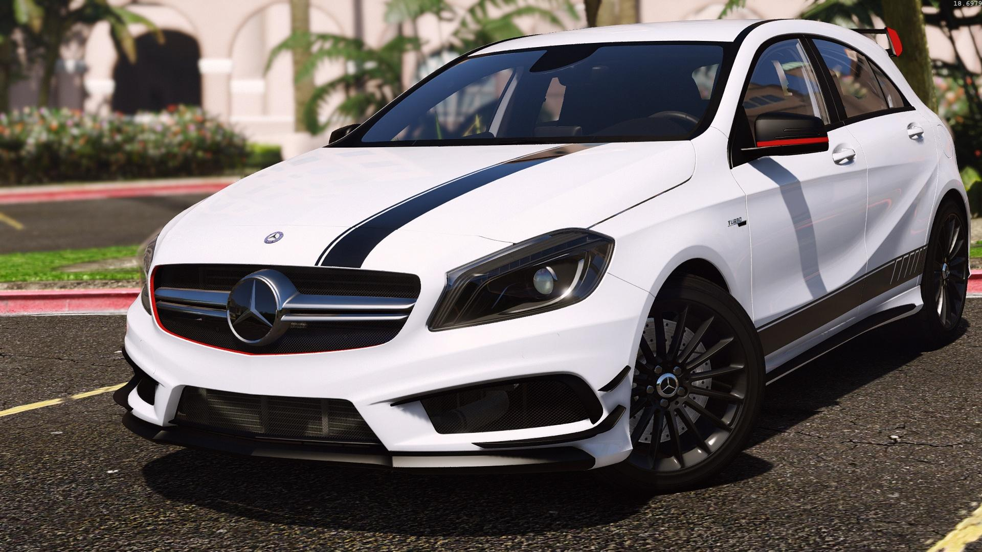 mercedes benz classe a 45 amg edition 1 add on replace gta5. Black Bedroom Furniture Sets. Home Design Ideas