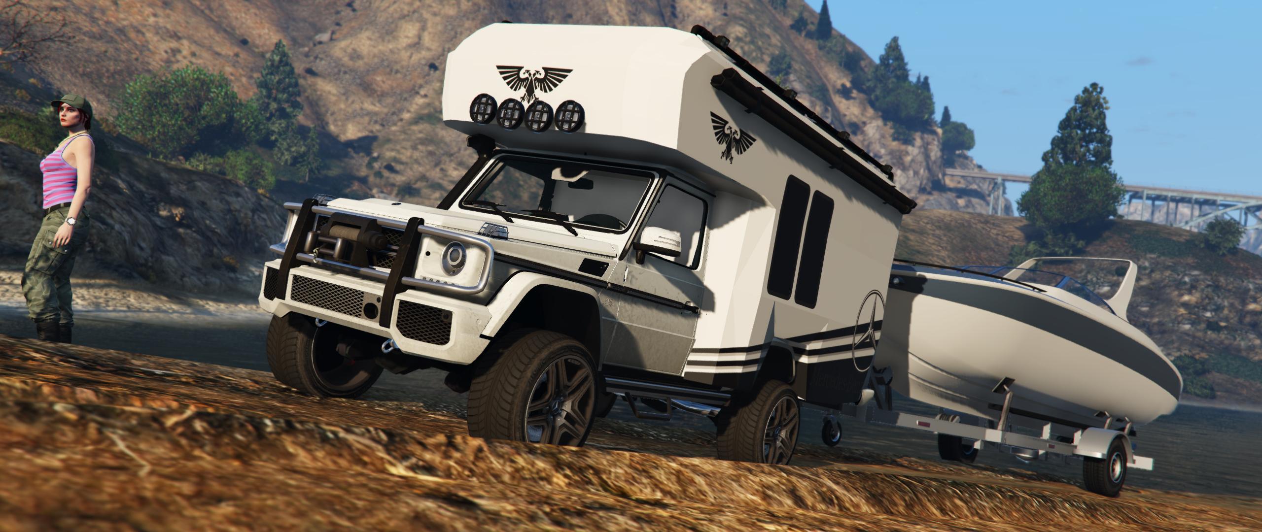 mercedes benz g wagon camper gta5. Black Bedroom Furniture Sets. Home Design Ideas
