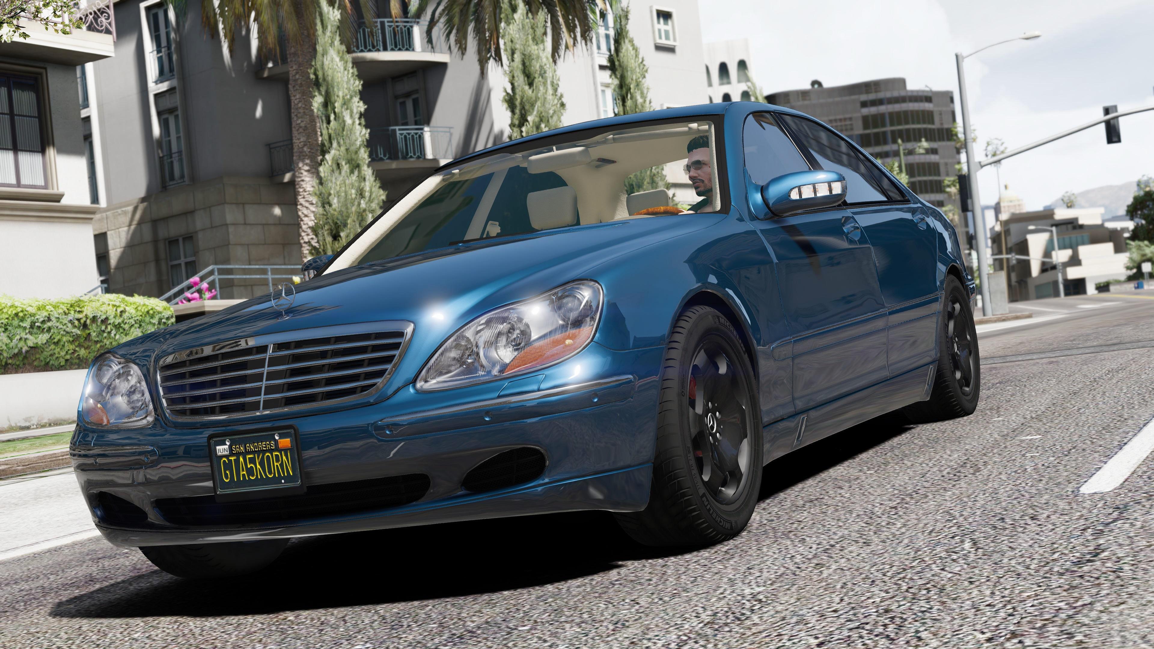 Mercedes benz s600 w220 add on replace gta5 for Mercedes benz s600