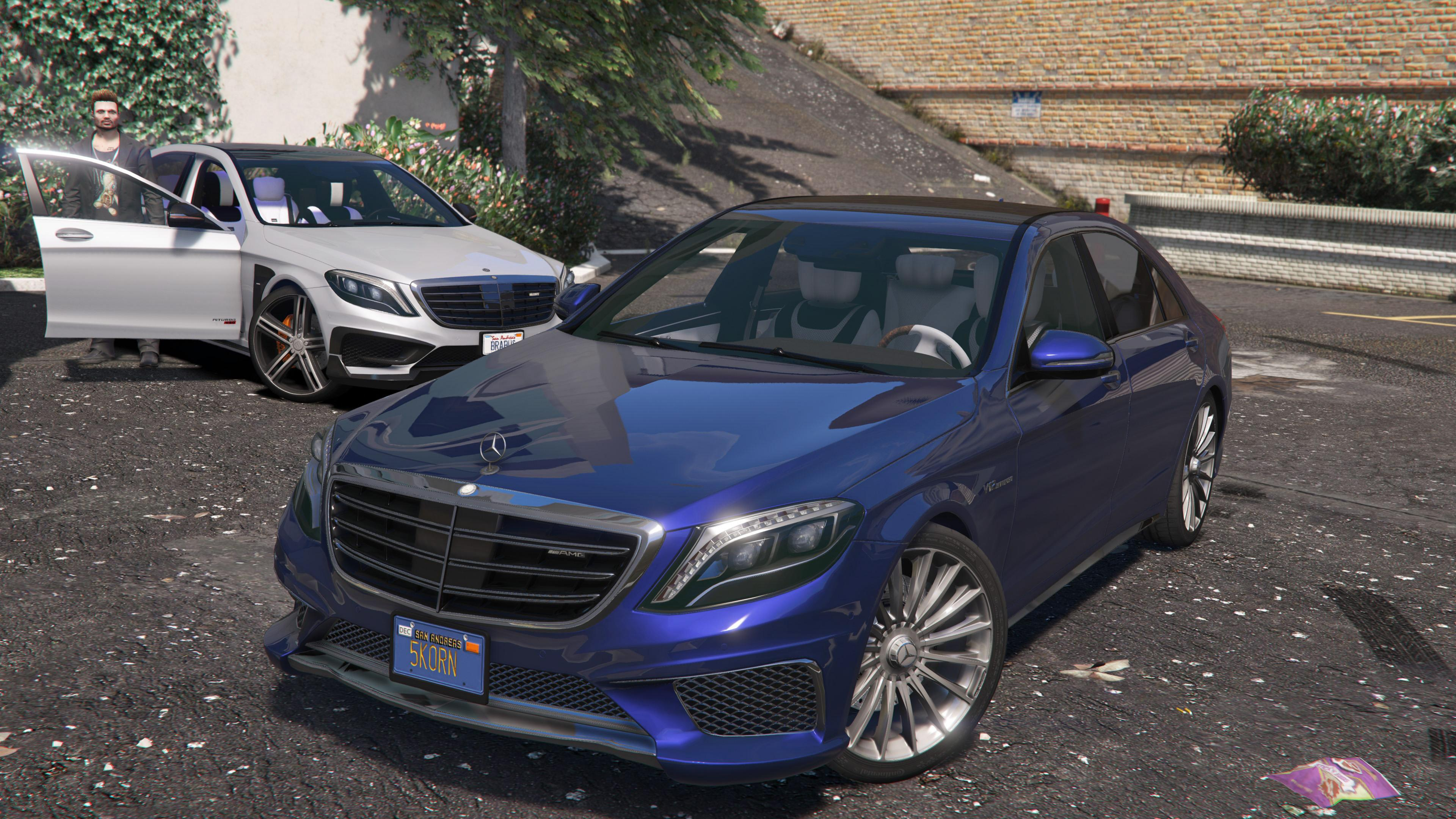 2014 mercedes amg s65 w222 add on replace gta5. Black Bedroom Furniture Sets. Home Design Ideas