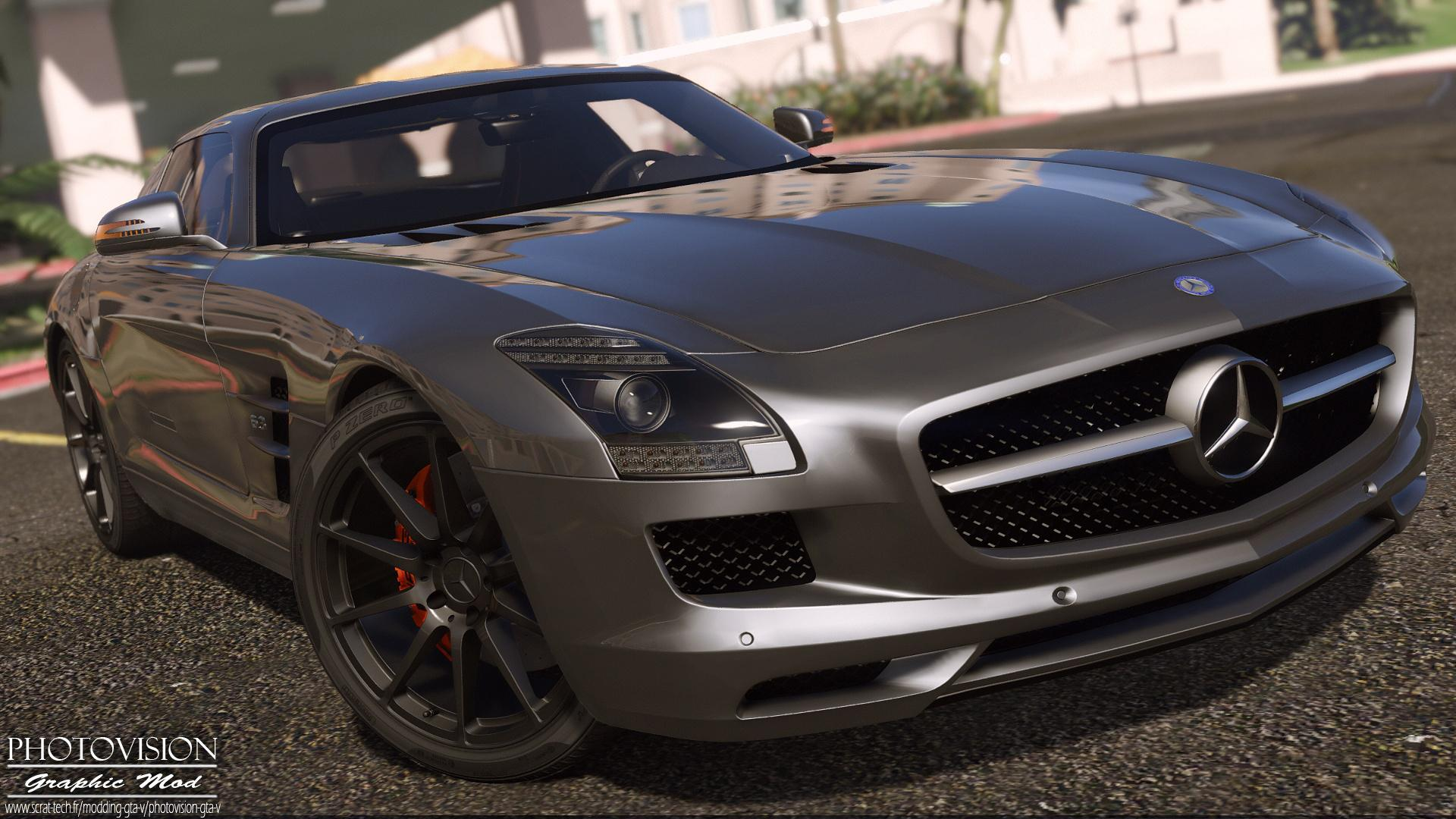 mercedes benz sls amg autovista add on replace template gta5. Black Bedroom Furniture Sets. Home Design Ideas