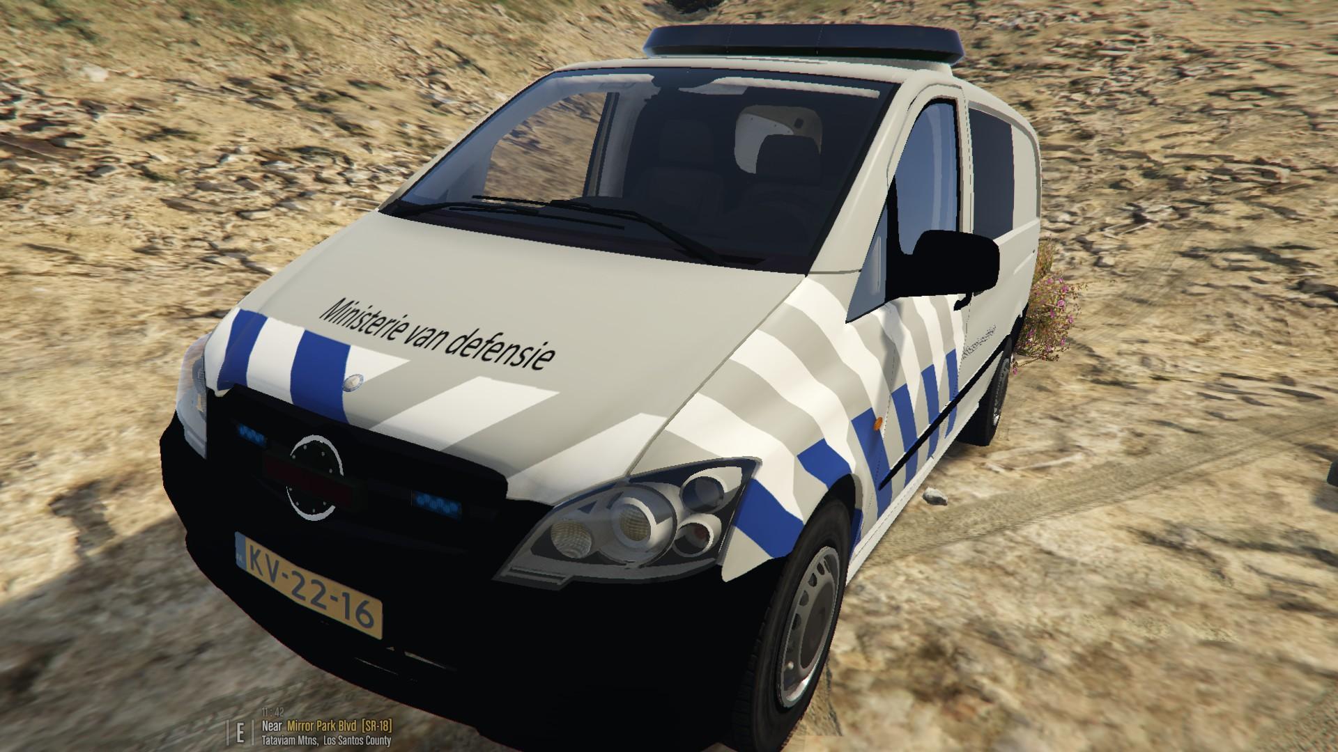 Mercedes Vito Ministerie van defensie - GTA5-Mods.com