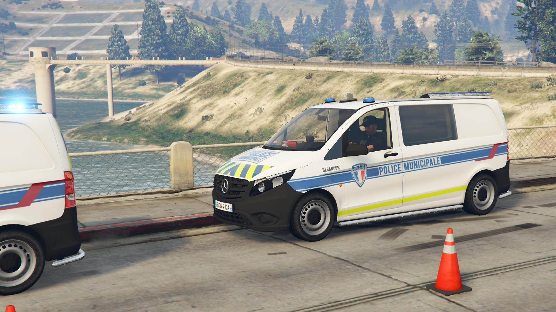 mercedes vito police municipale gta5. Black Bedroom Furniture Sets. Home Design Ideas