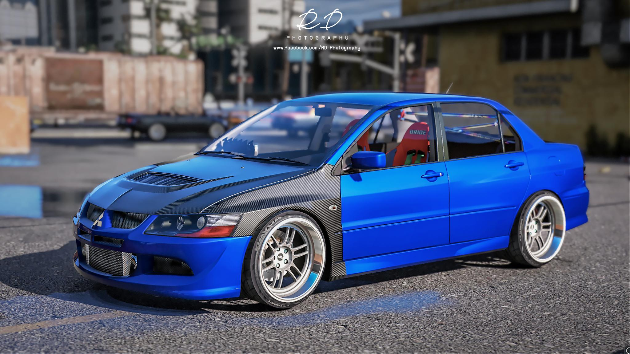 mitsubishi lancer evo 8 add on gta5