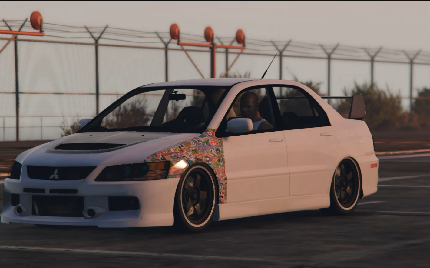 mitsubishi lancer evo ix jdm paint job gta5. Black Bedroom Furniture Sets. Home Design Ideas