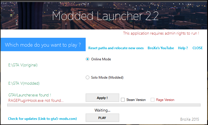 Modded Launcher (Works with RPF mods) - GTA5-Mods com