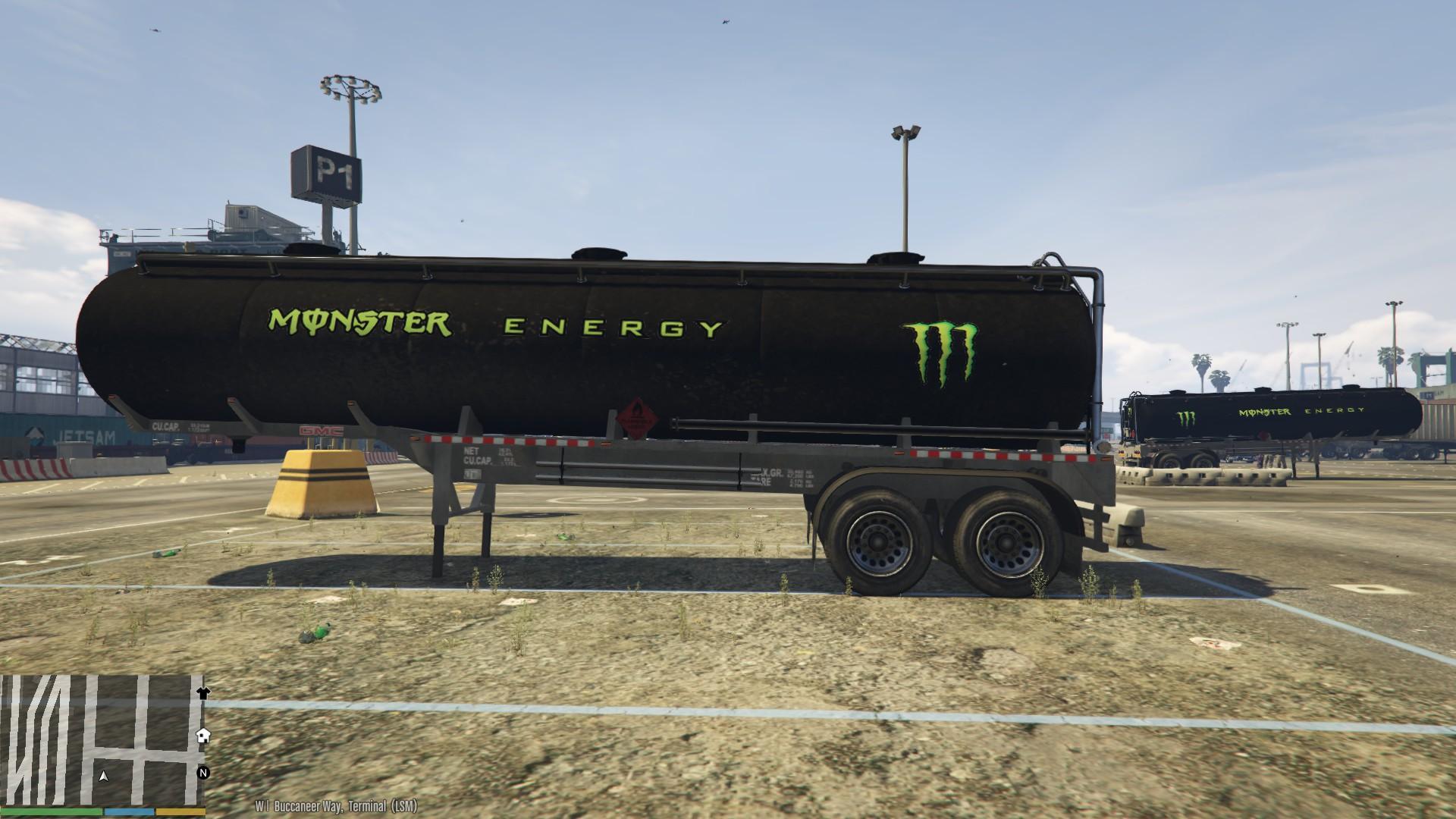 Camaro Monster Truck >> Monster Energy Tanker - GTA5-Mods.com