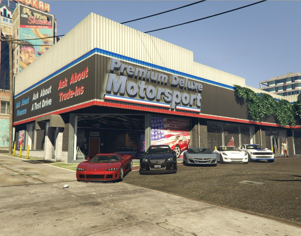 premium deluxe motorsport car dealer sell cars gta5. Black Bedroom Furniture Sets. Home Design Ideas
