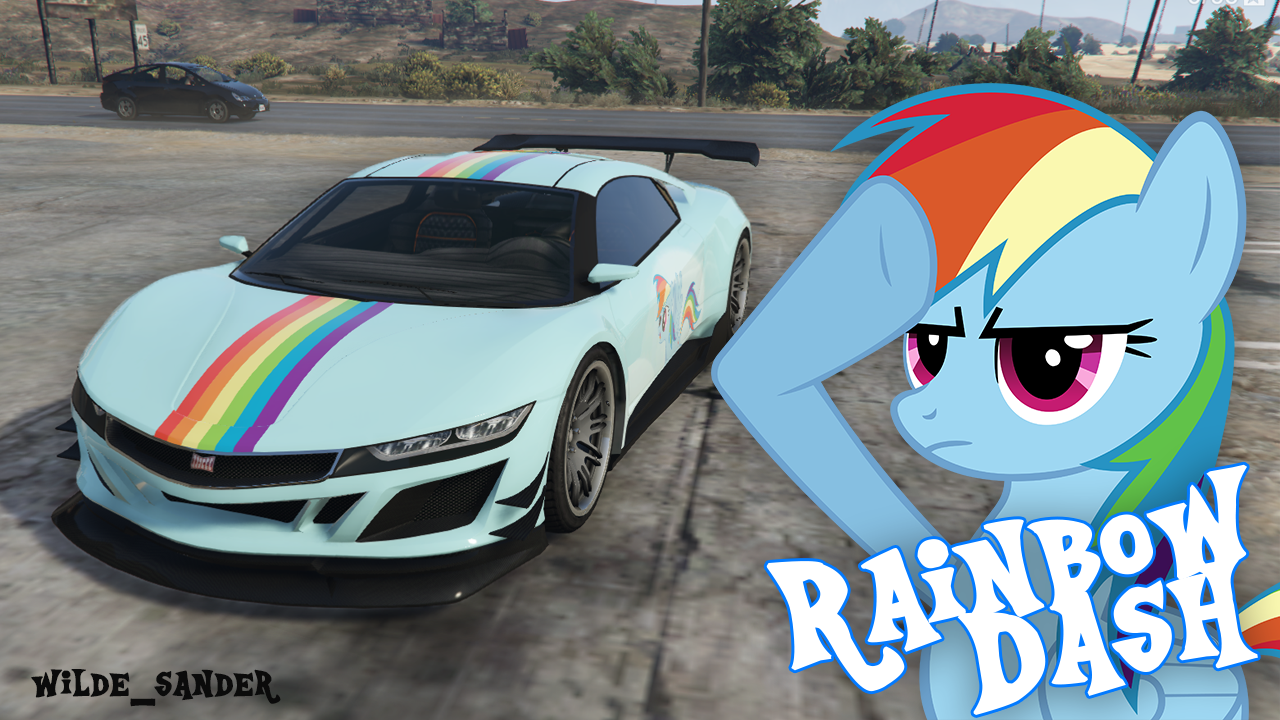 My Little Pony Rainbow Dash Jester + Template - GTA5-Mods com