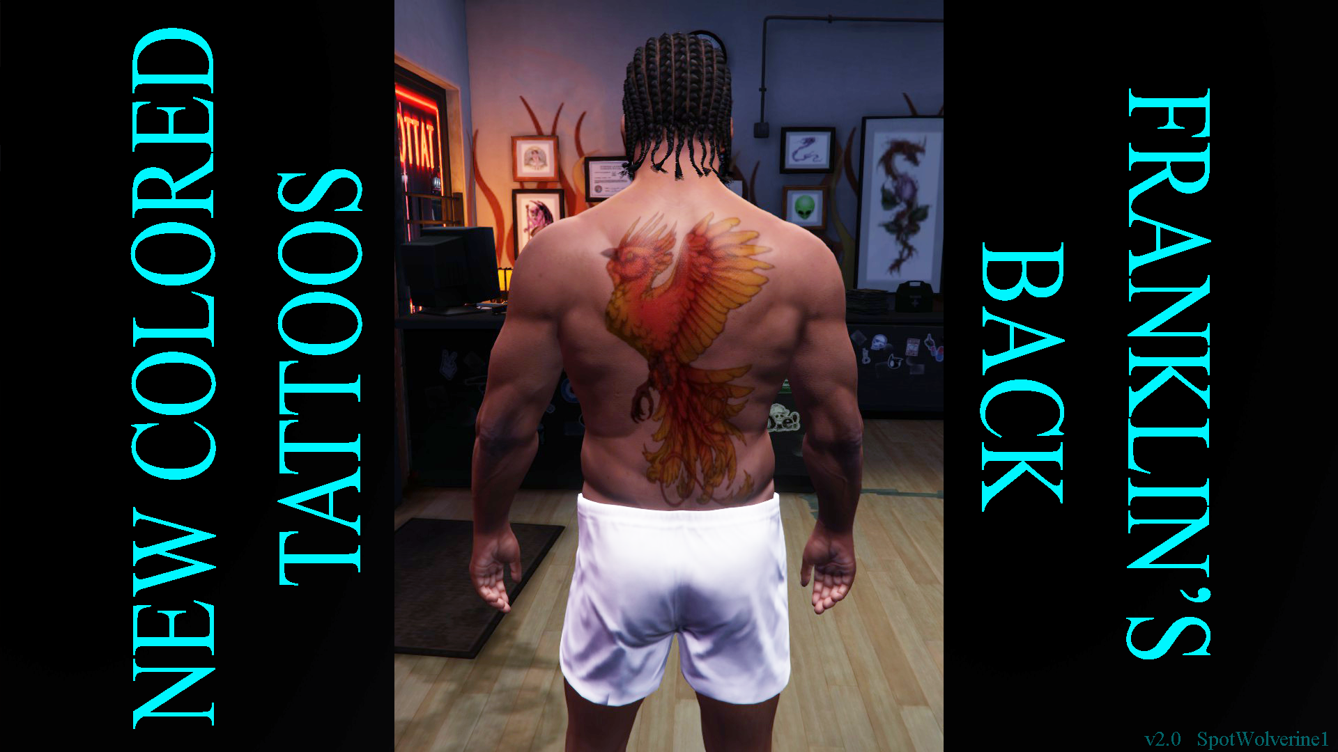 New Colored Tattoos Franklin S Back Graphics Tablet