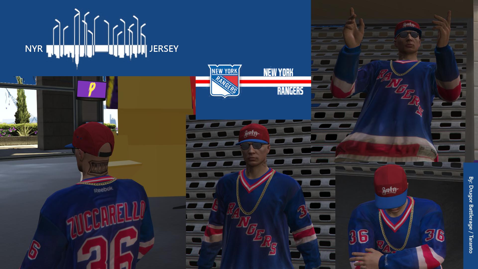 New York Ranger Hockey Jersey For Mp Male Gta5 Mods Com