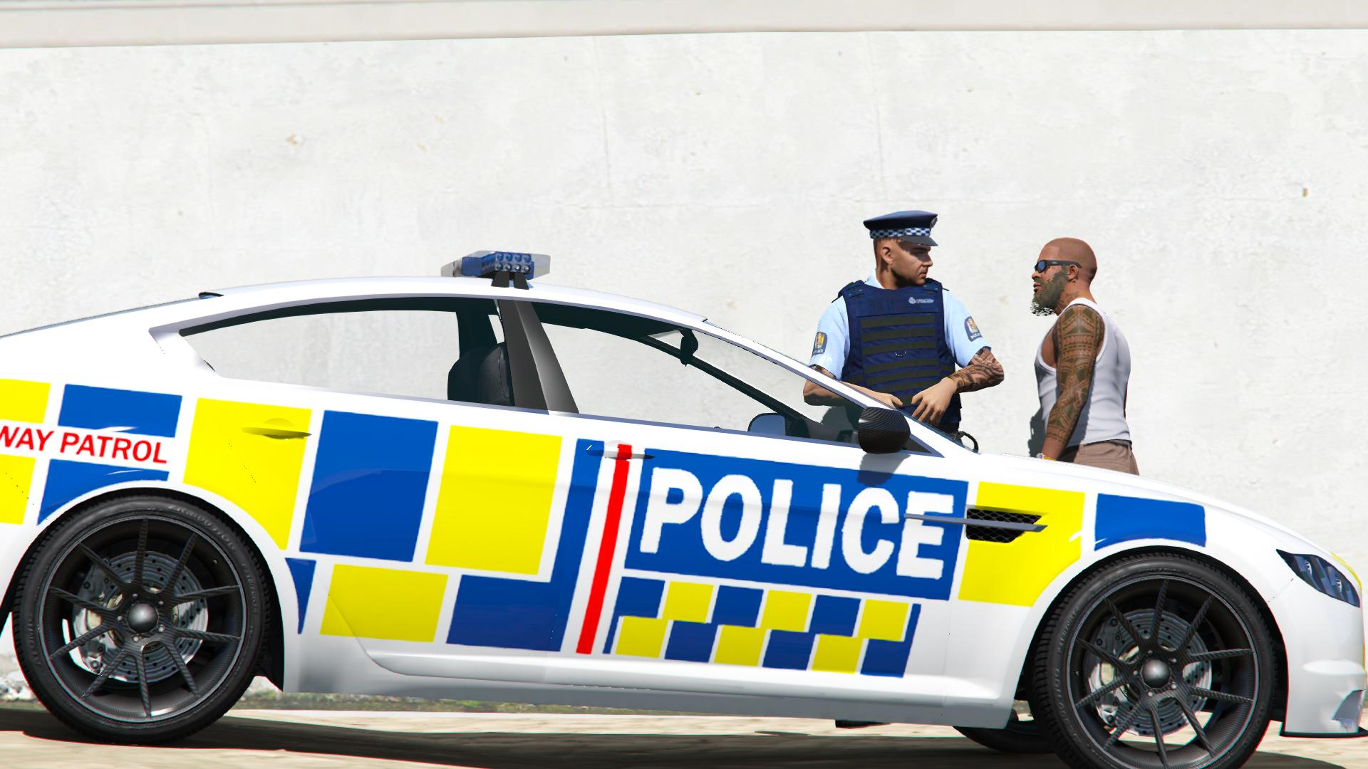 New Zealand Police Car