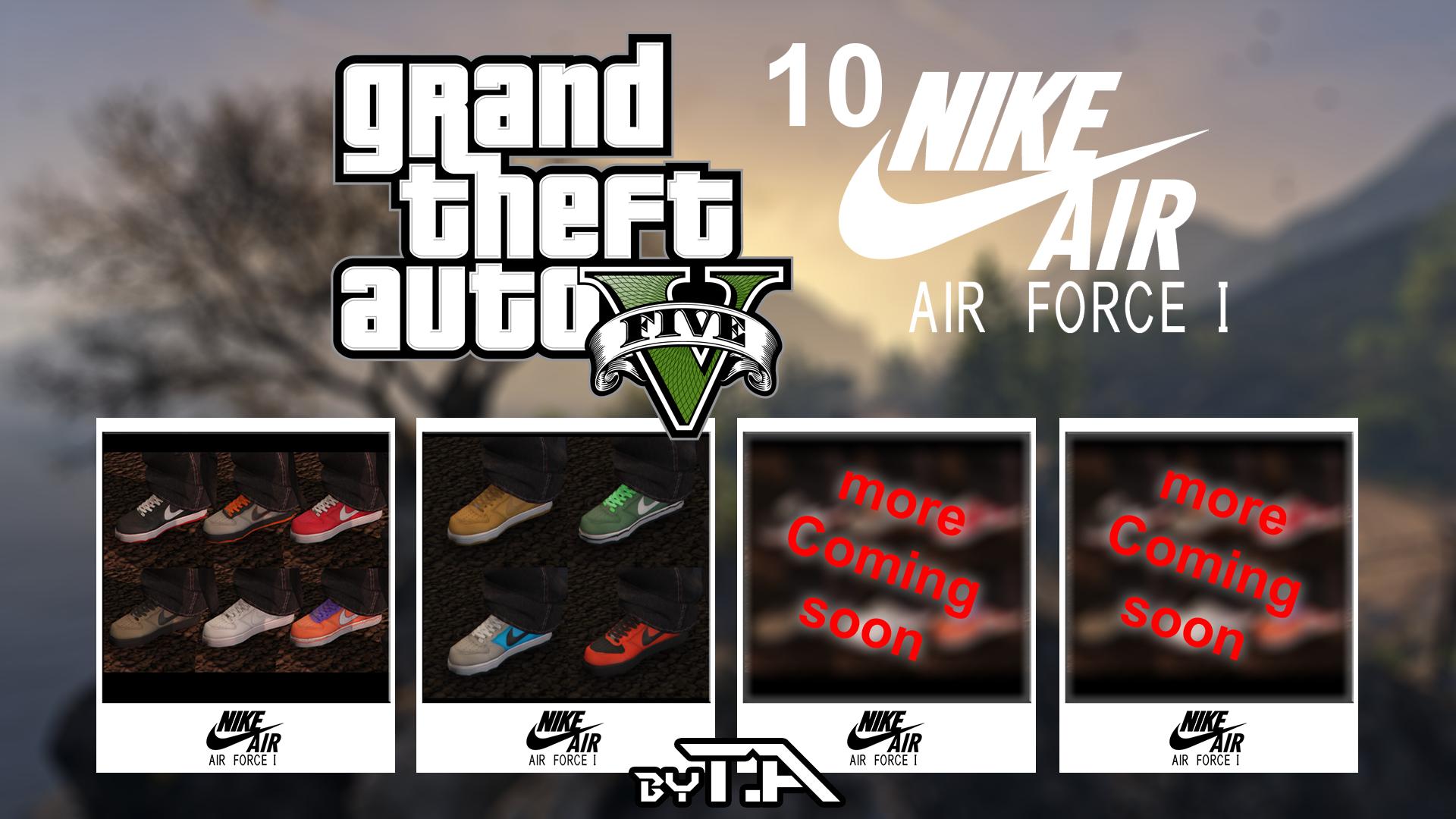 Nike air force one pack gta5 for Gta v bedroom wallpaper