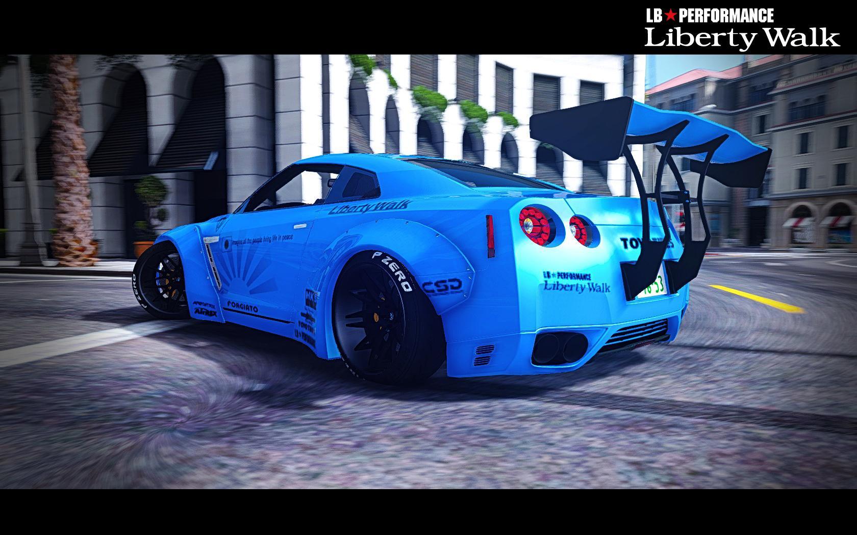 Nissan Gtr Custom >> Nissan Gt R R35 Libertywalk Gta5 Mods Com