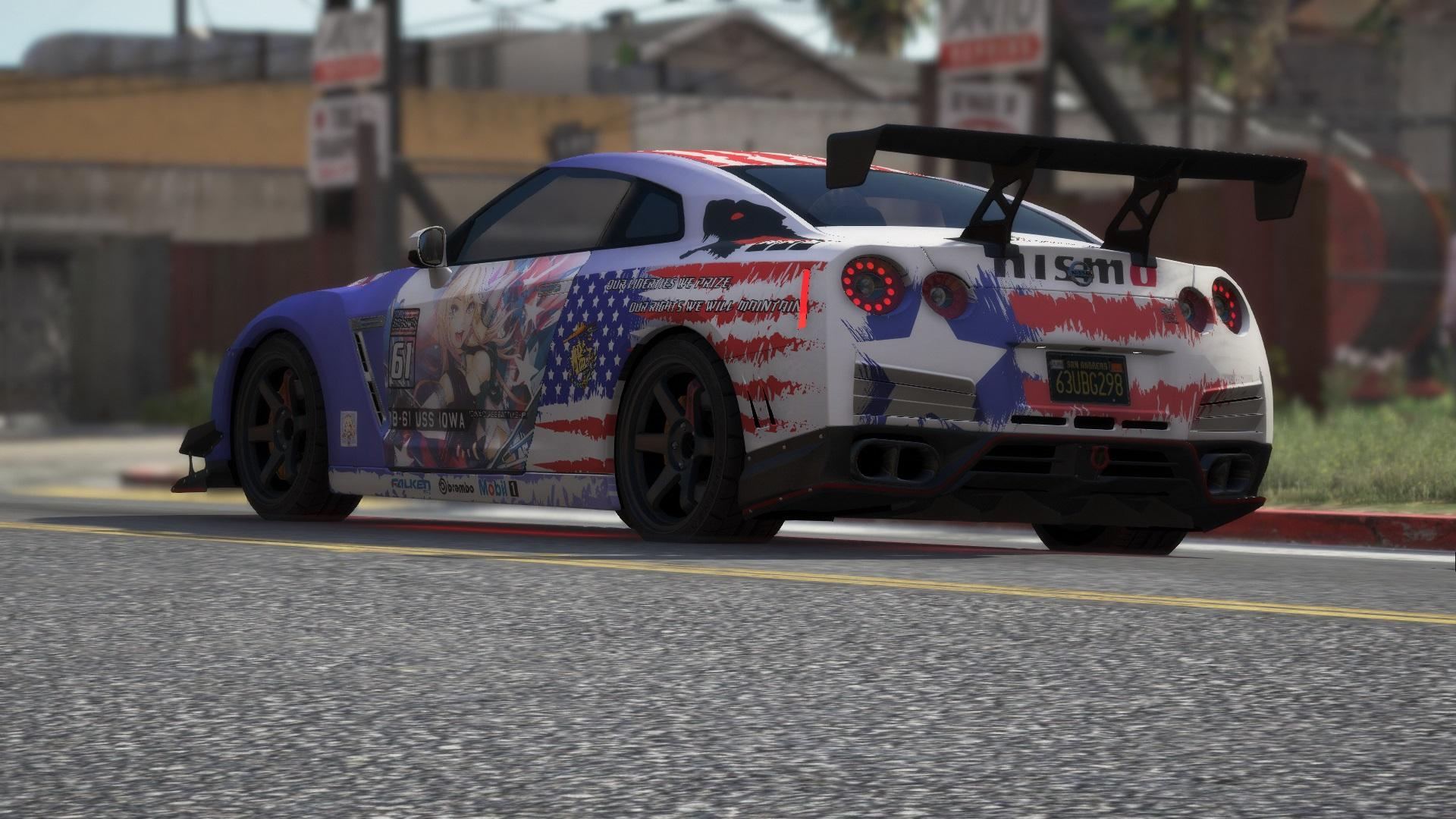 Nissan Gtr R35 Bb 61 Iowa Kantai Collection Livery