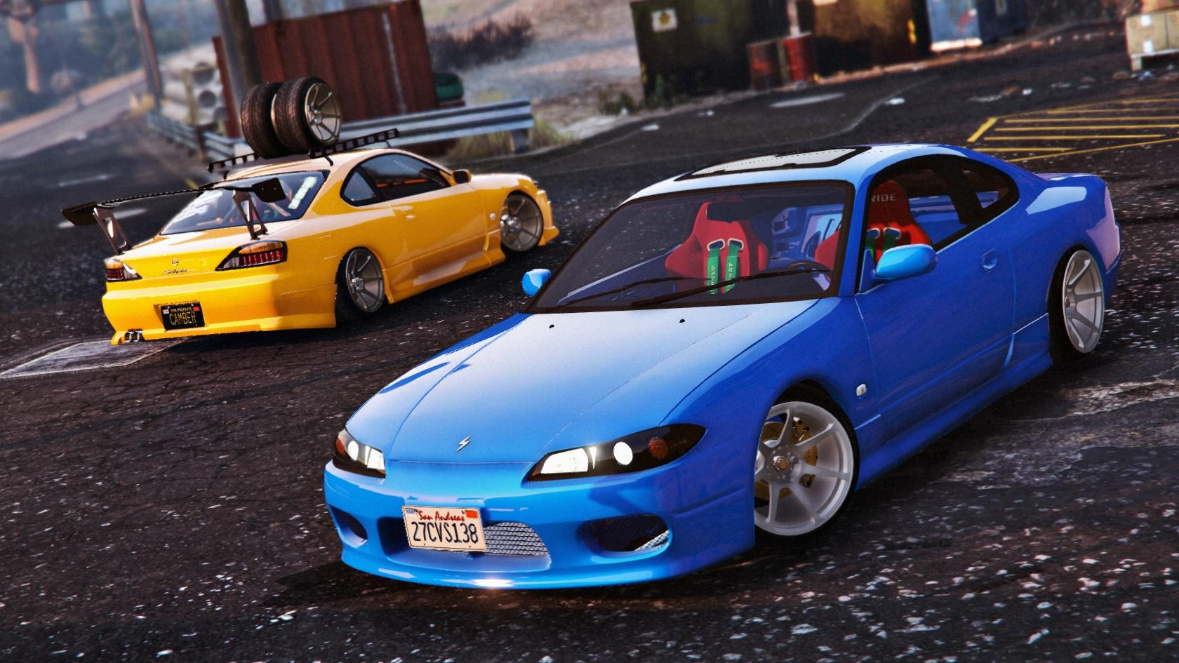 nissan silvia s15 add on replace tunable gta5. Black Bedroom Furniture Sets. Home Design Ideas