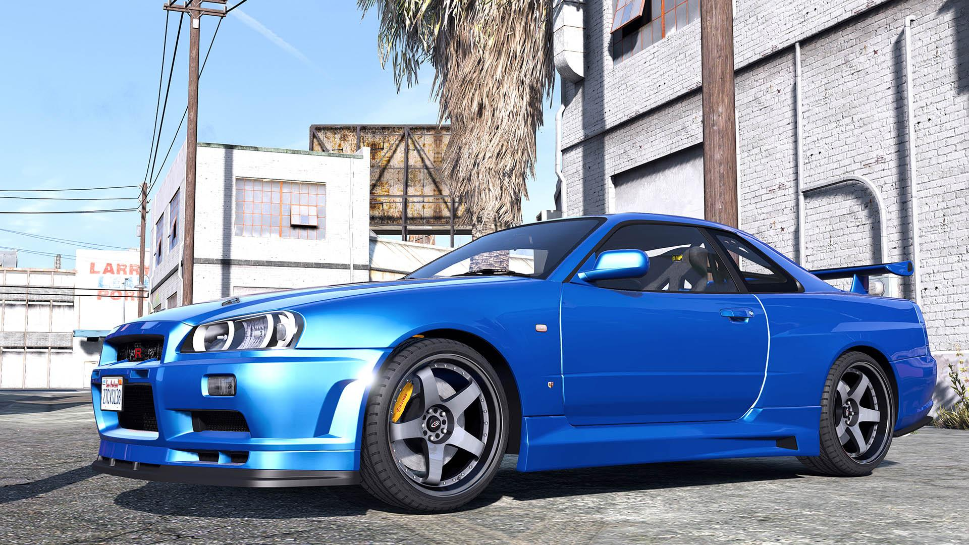 nissan skyline gt r 34 2002 add on replace animated. Black Bedroom Furniture Sets. Home Design Ideas