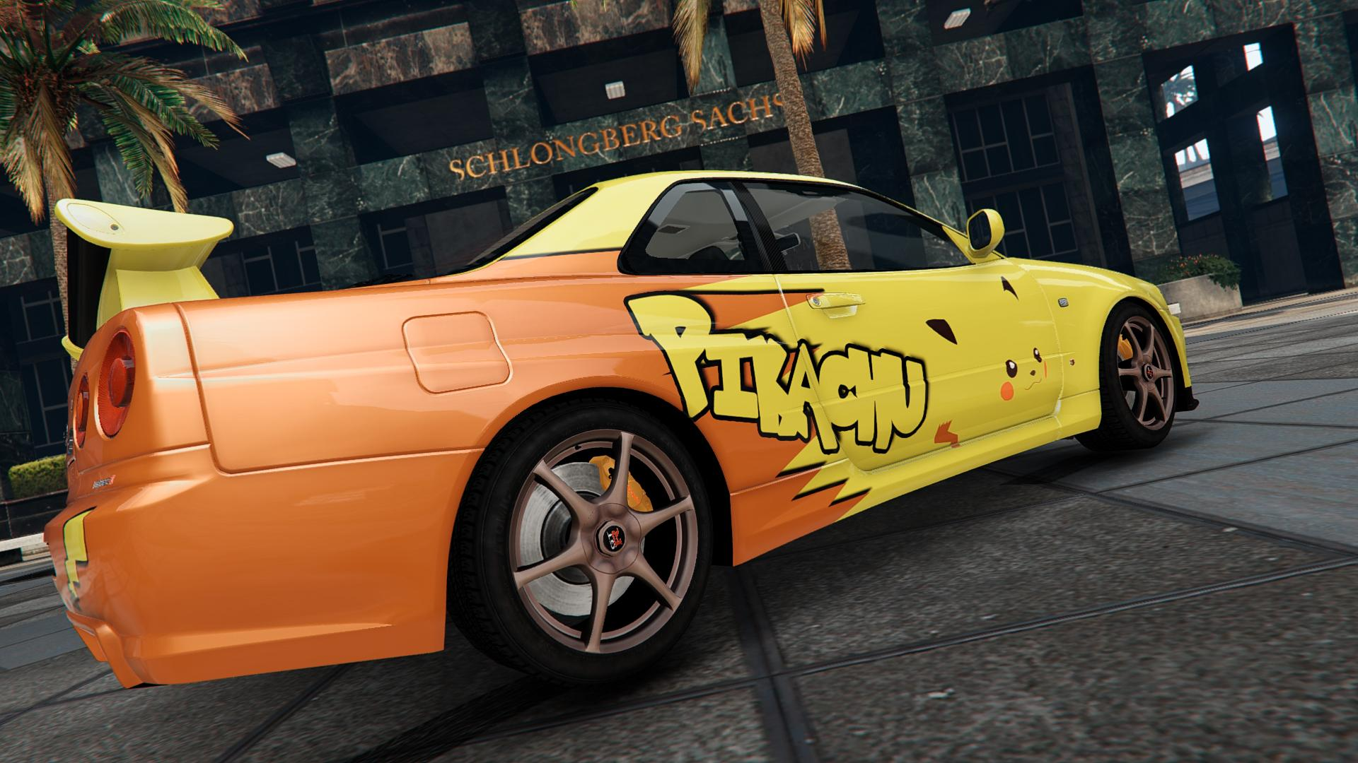 2016 Lancer Evolution >> Nissan Skyline GT-R Pikachu Livery - GTA5-Mods.com