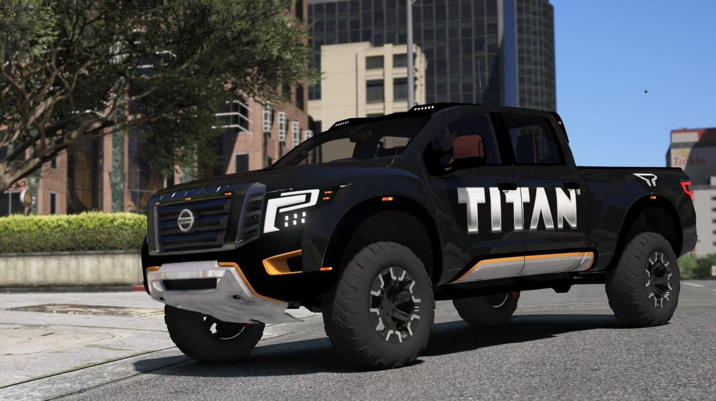 Nissan Titan Warrior 2017 Add On Replace Livery