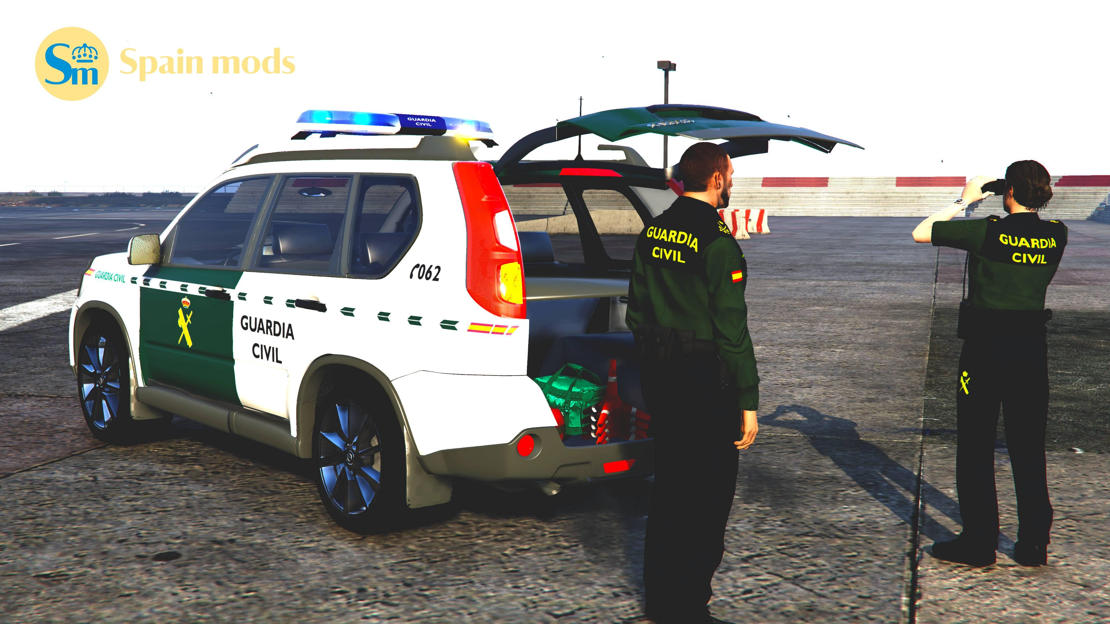nissan x trail versi n guardia civil els gta5. Black Bedroom Furniture Sets. Home Design Ideas