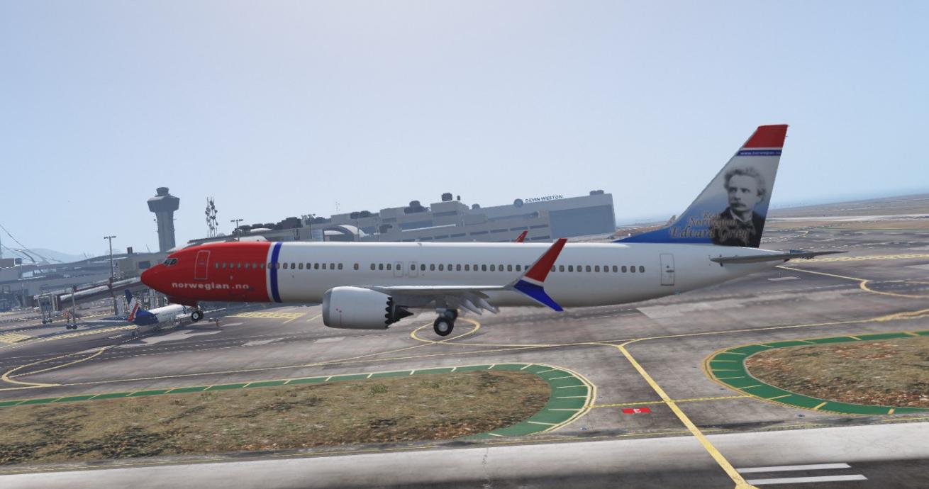 Norwegian 737-9 MAX Livery - GTA5-Mods.com