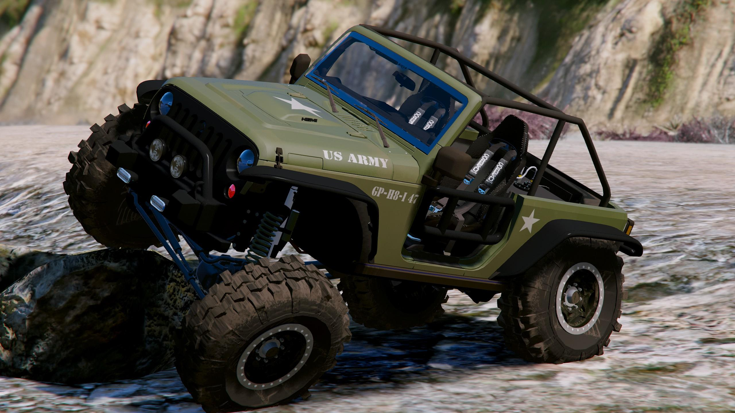 Od Army Livery For Jeep Trailcat Gta5 Mods Com