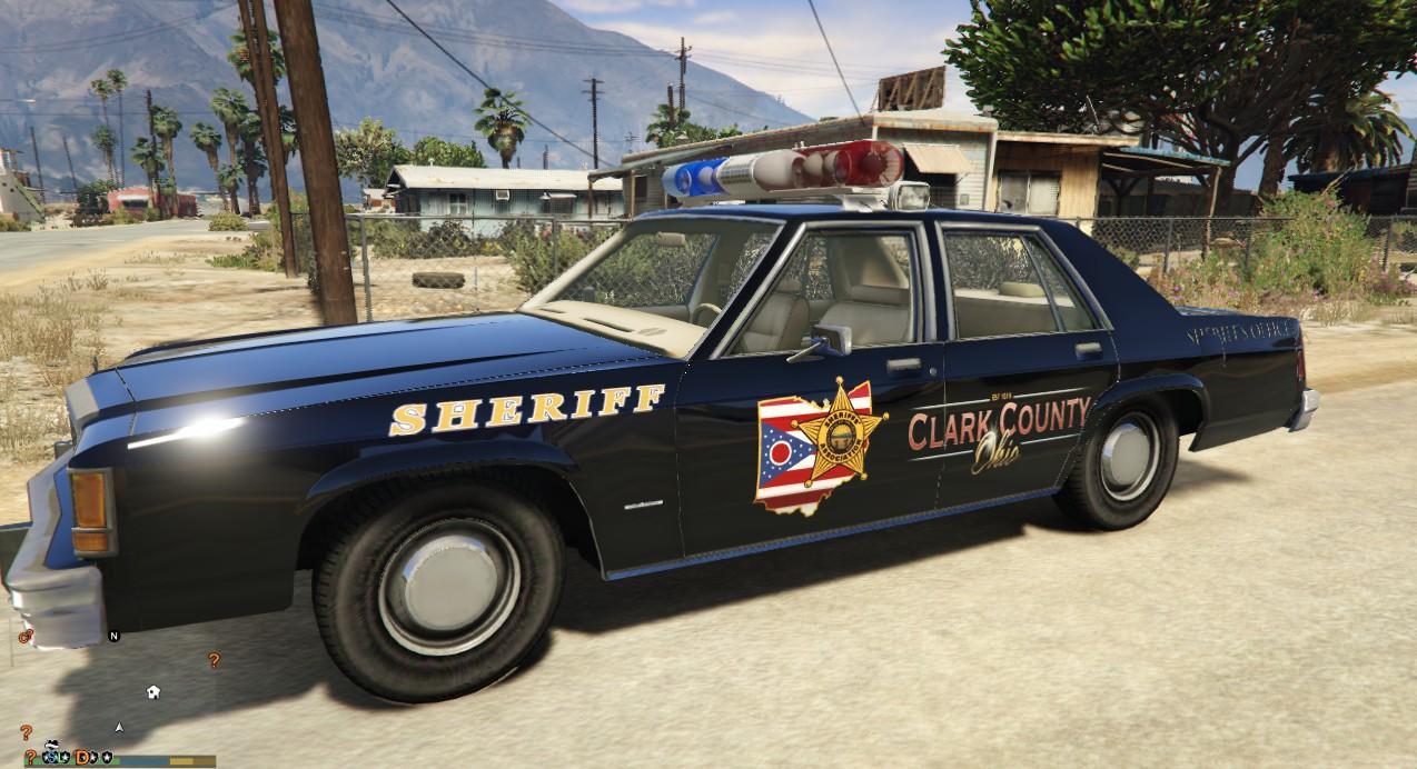 Ohio Clarks County Sheriff 1989 Chevrolet Caprice 9c1 1970 Ford Ltd Crown Victoria