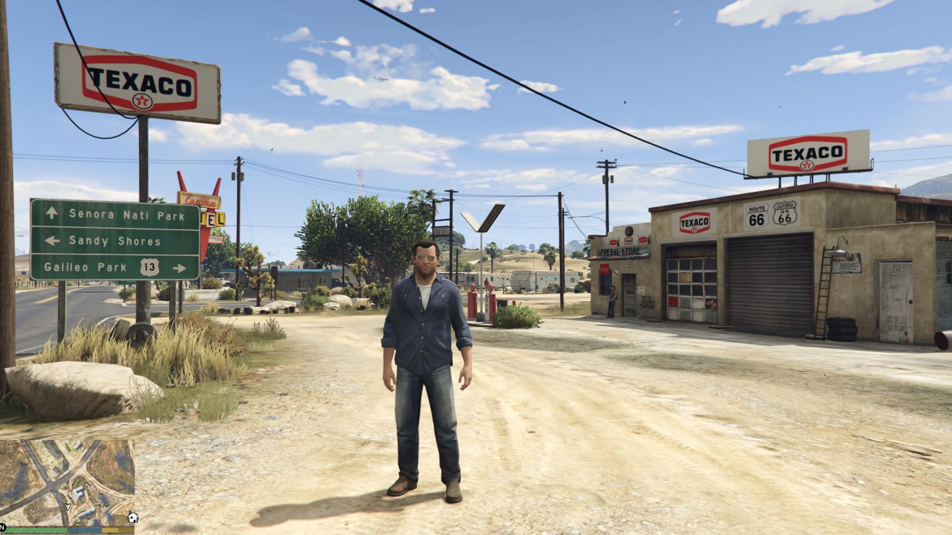 Old Texaco Gas Station Gta5 Mods Com