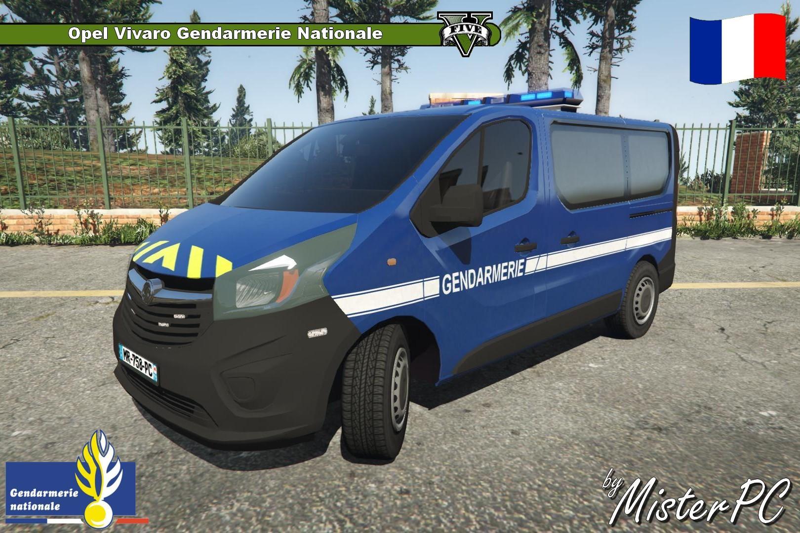 opel vivaro gendarmerie nationale gta5. Black Bedroom Furniture Sets. Home Design Ideas