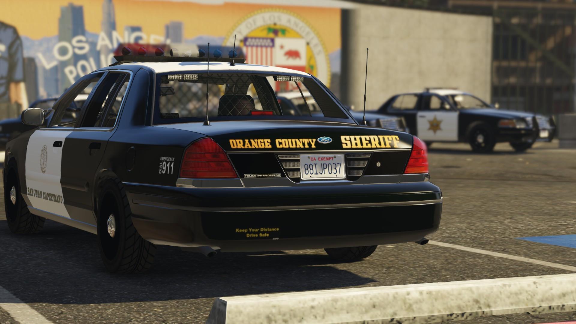 Orange County Sheriff Chp Black Interior Realism