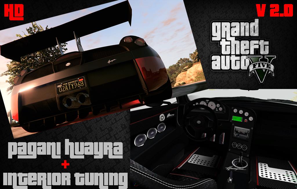 Pagani Huayra Hd Badge Interior Tuning Gta5 Mods Com