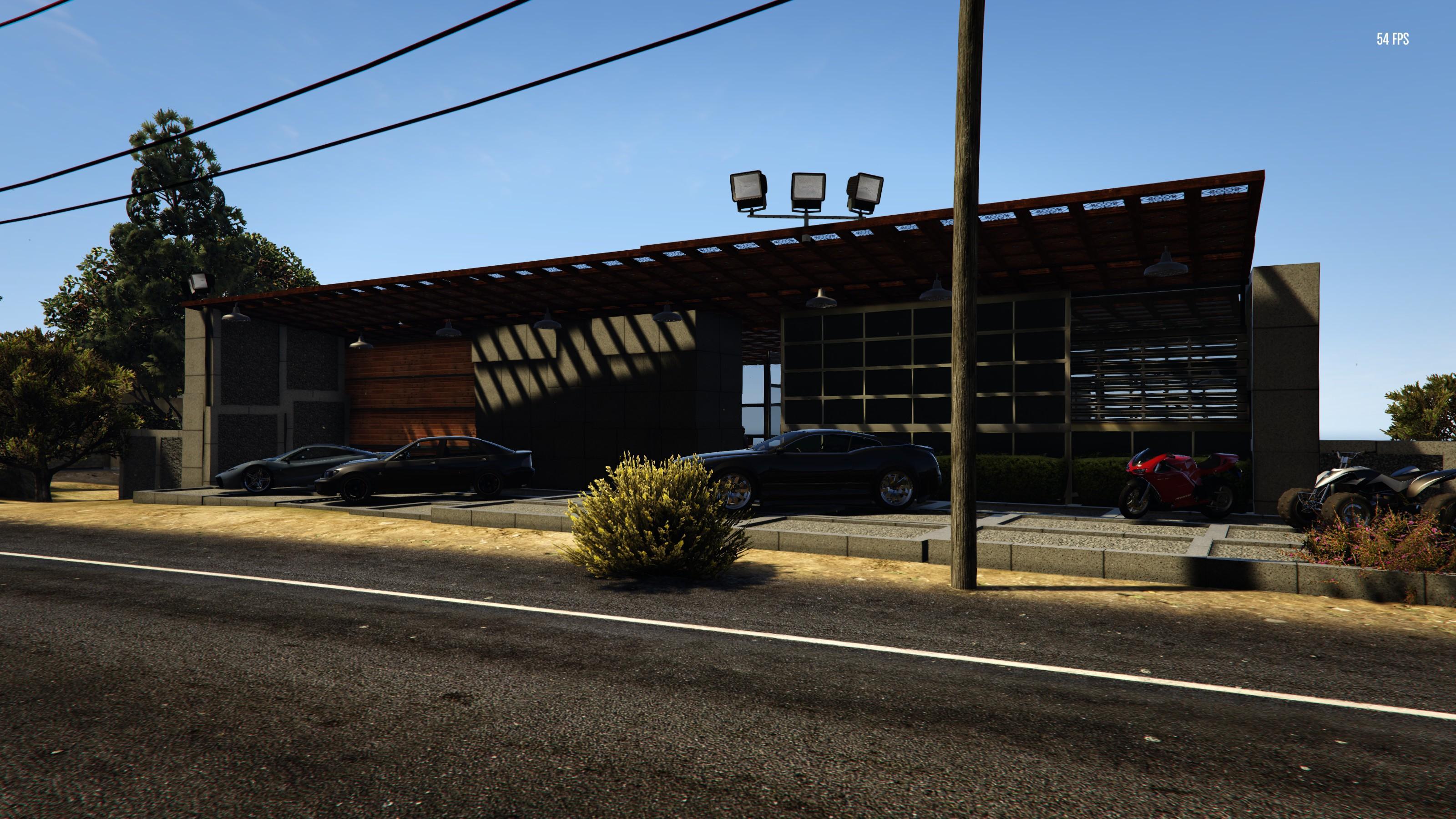Paleto bay post modern home gta5 for Post modern house