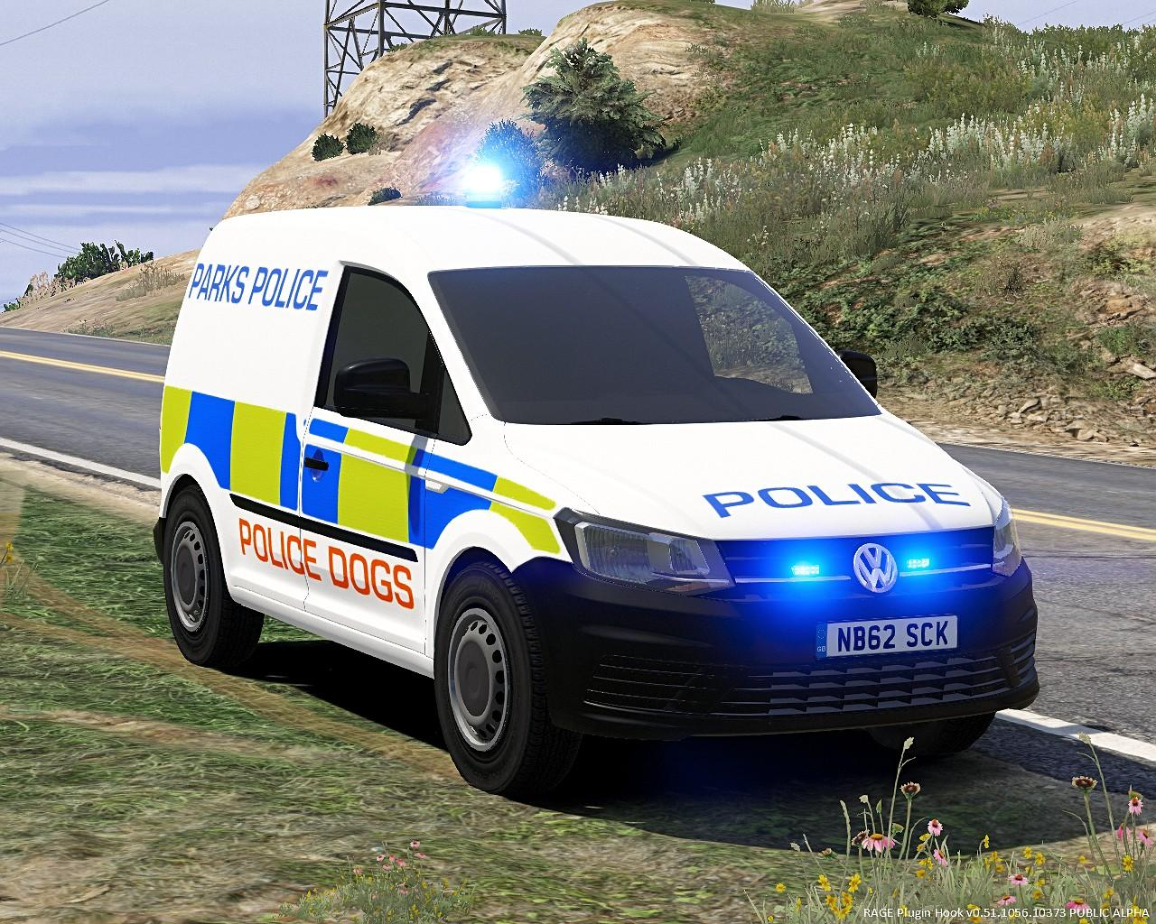 parks police skin for volkswagen caddy single light version gta5. Black Bedroom Furniture Sets. Home Design Ideas