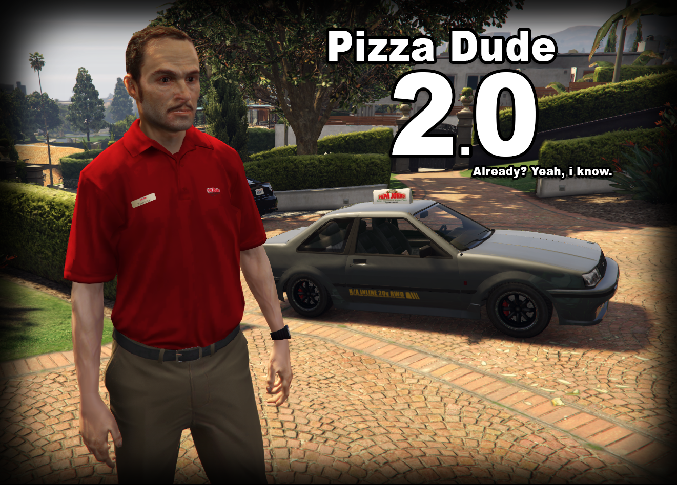 Pizza delivery dude