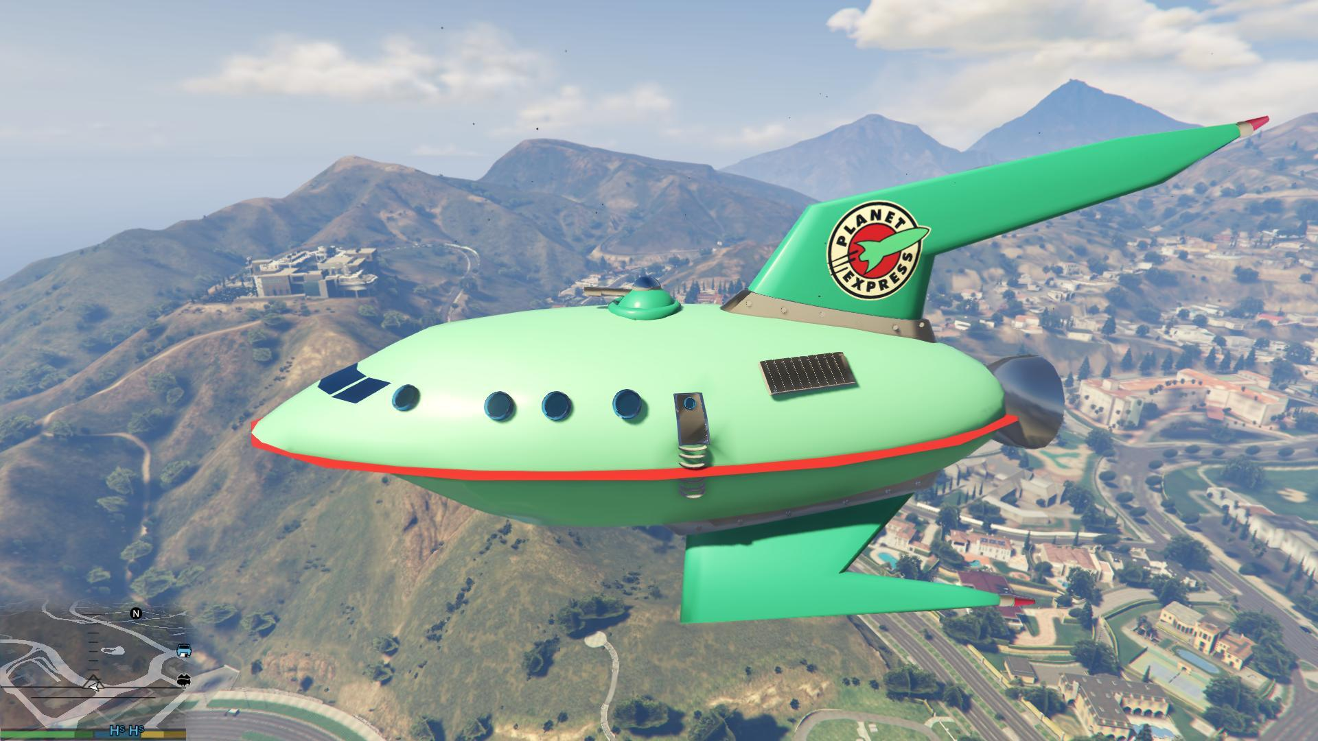 Planet Express Ship Add On Replace Gta5 Mods Com