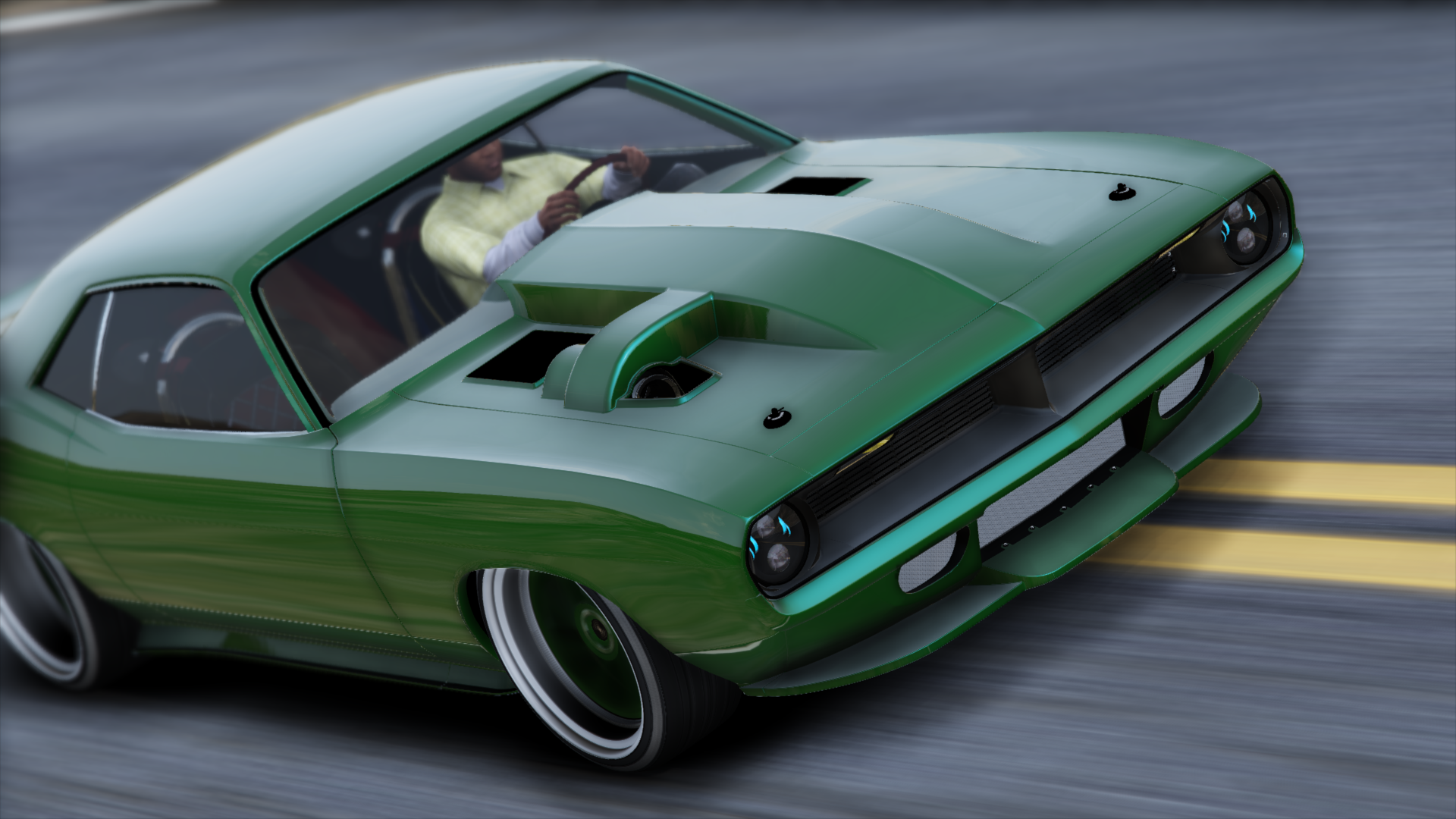 "Dodge Dart Turbo >> Plymouth Cuda ""Torc"" Weaver Customs Twin Turbo Disel '70 [Animated Engine & Exhaust] - GTA5-Mods.com"