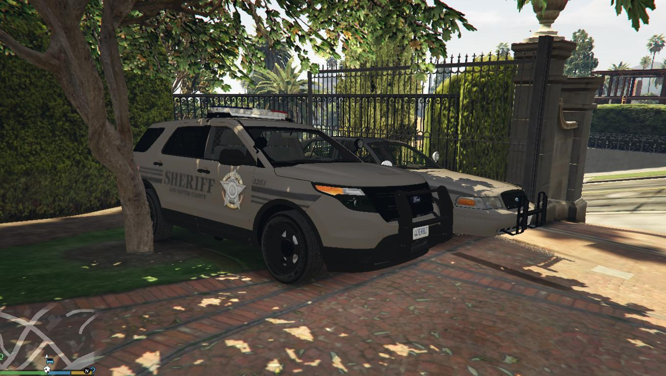 police ford explorer los santos county sheriff gta5. Black Bedroom Furniture Sets. Home Design Ideas