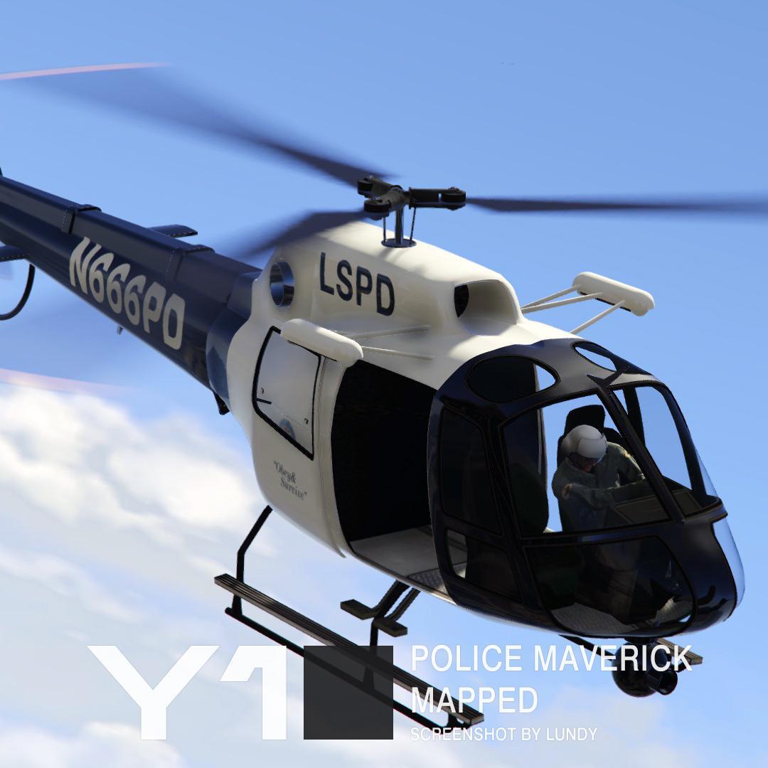 Bravado Bison Gta 5 Police Maverick Mapped...