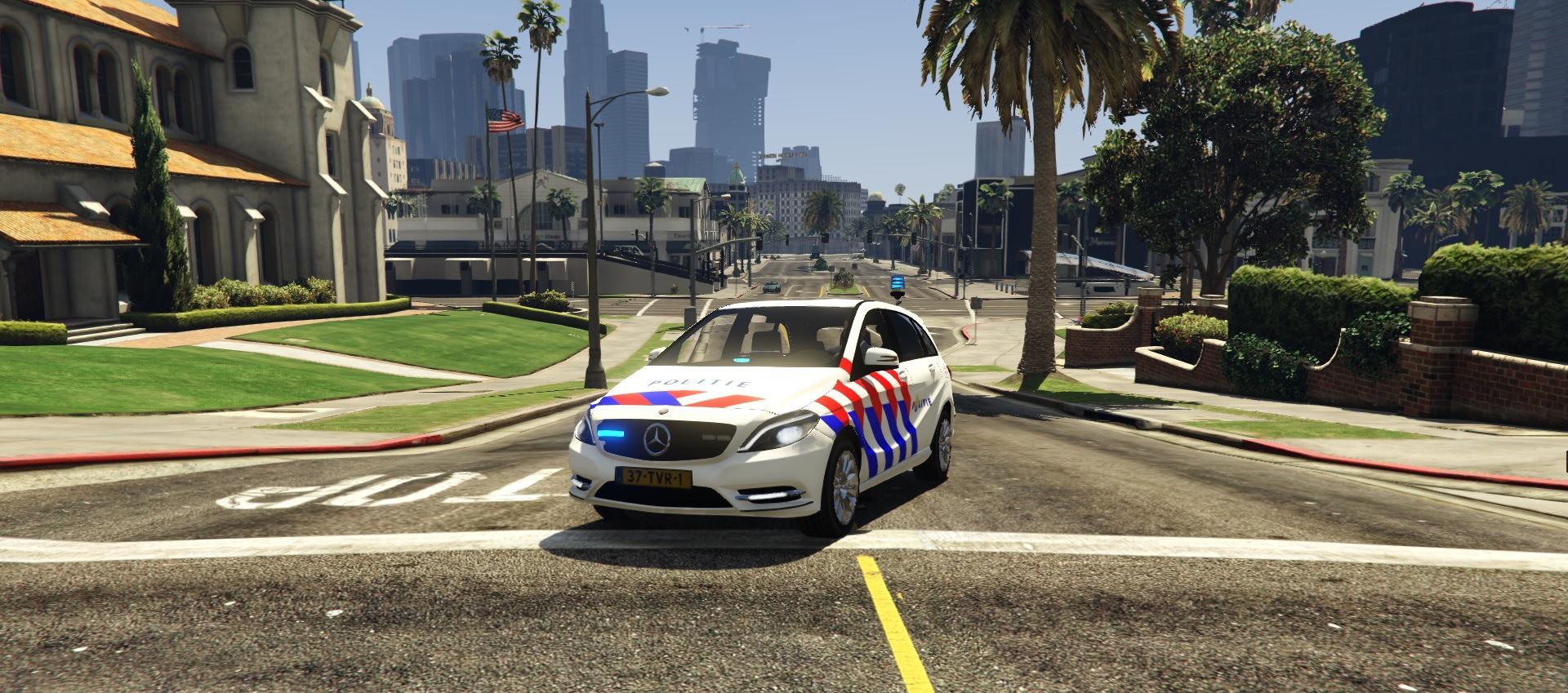politie mercedes bklasse gta5modscom