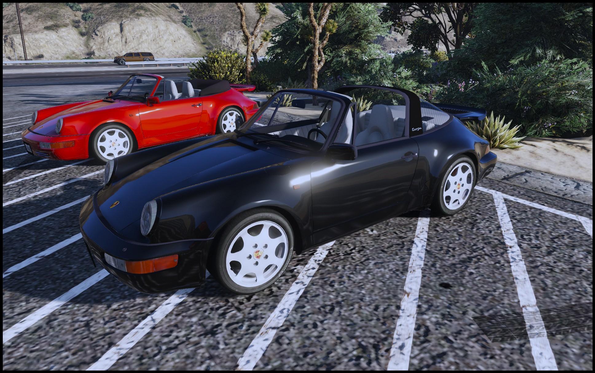 porsche 911 964 targa cabrio add on replace gta5. Black Bedroom Furniture Sets. Home Design Ideas