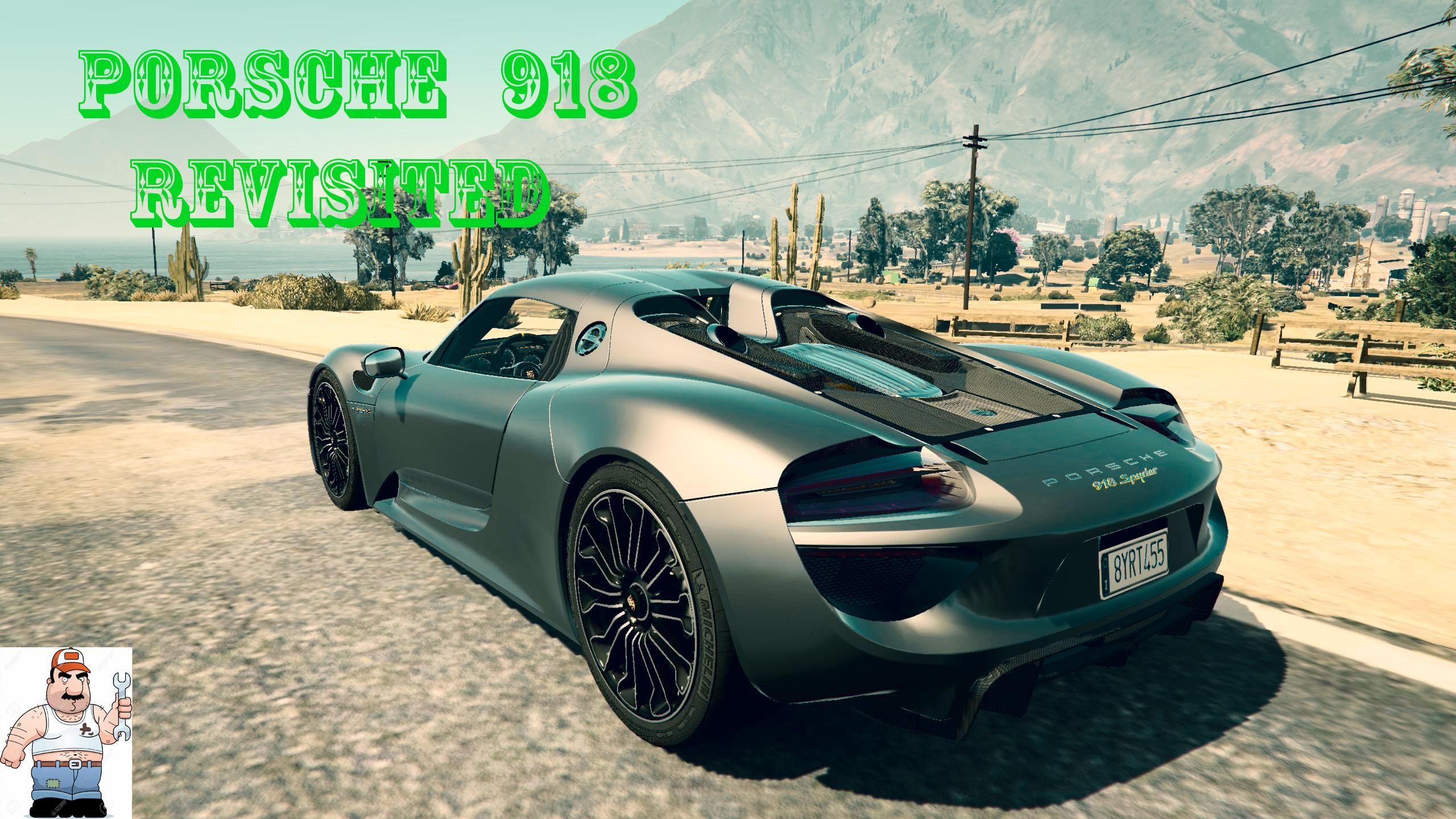 porsche 918 spyder revisited handling sound and camera gta5. Black Bedroom Furniture Sets. Home Design Ideas