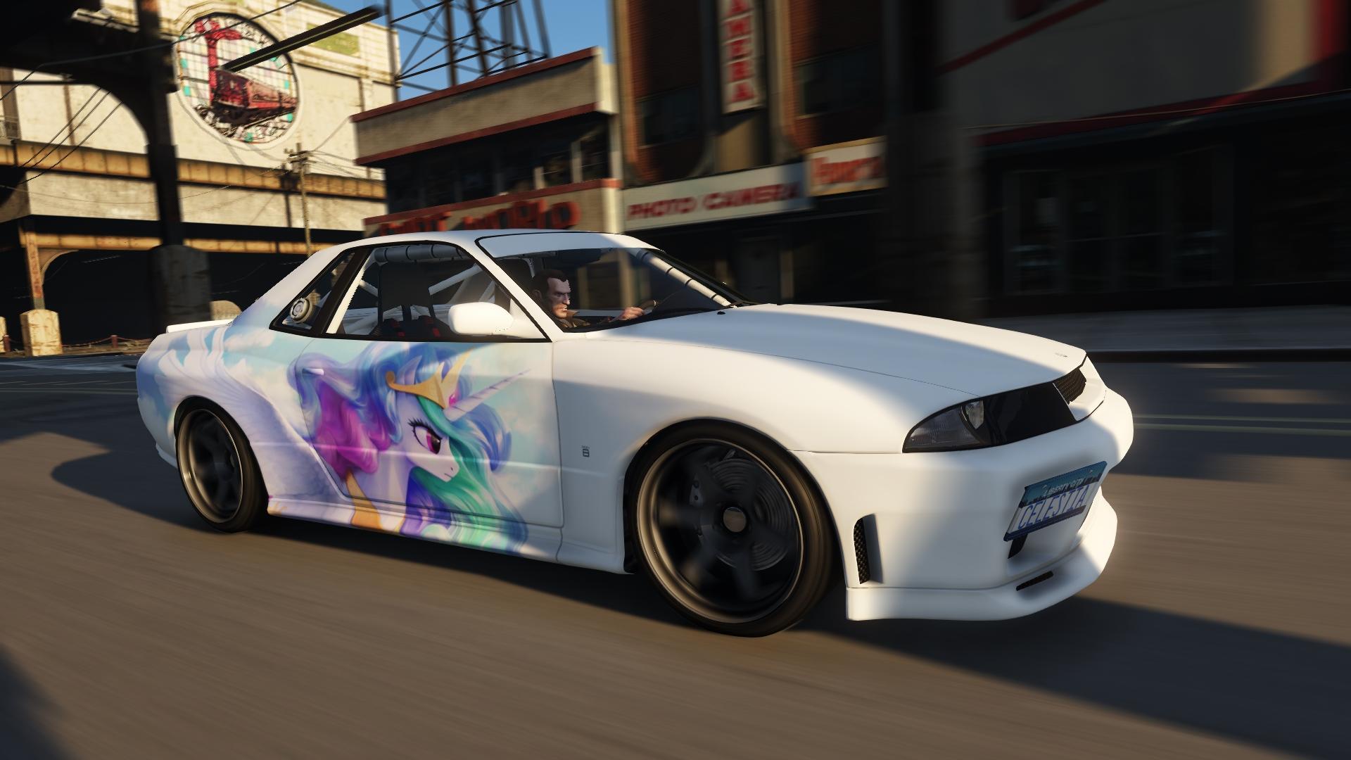 Princess Celestia Paintjob For Elegy Retro Custom Gta5