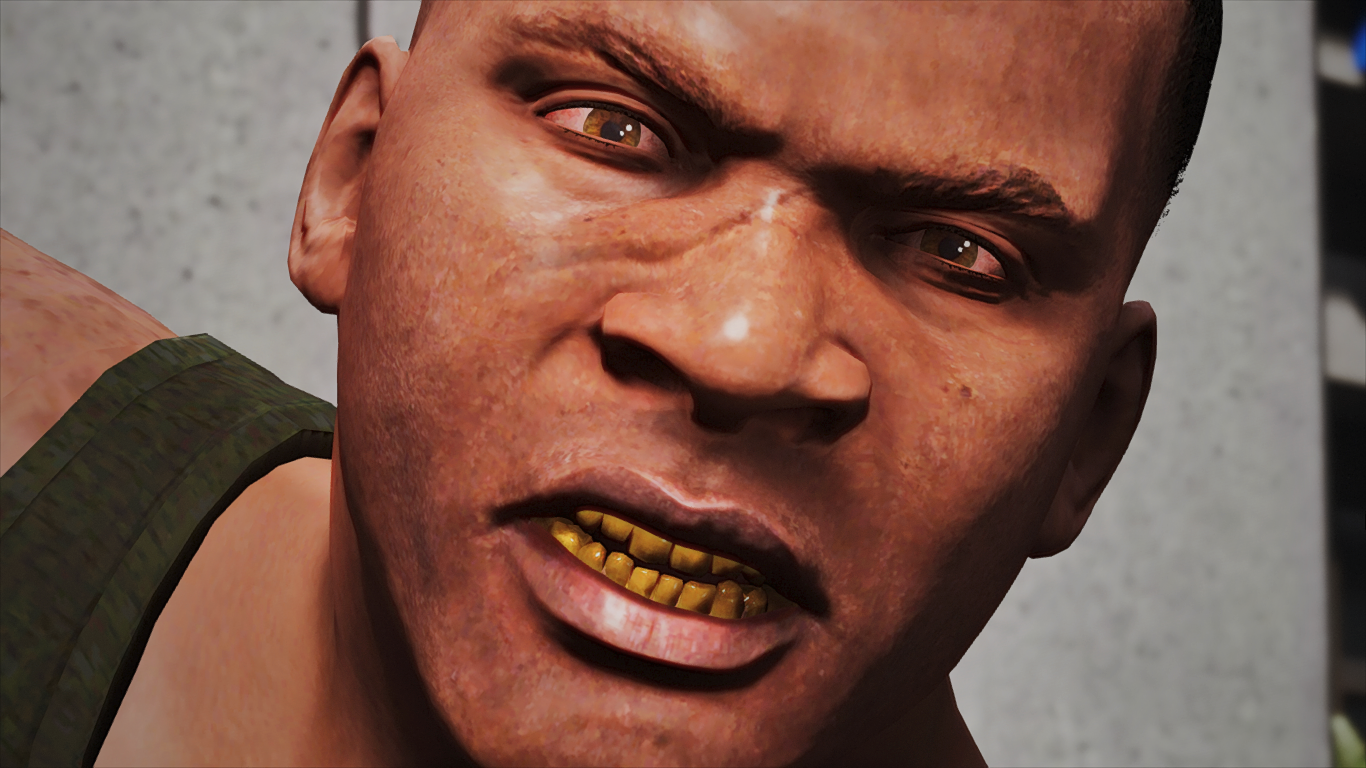 Proper Gold Grill w/ Blazed Out Eyes [F] - GTA5-Mods.com