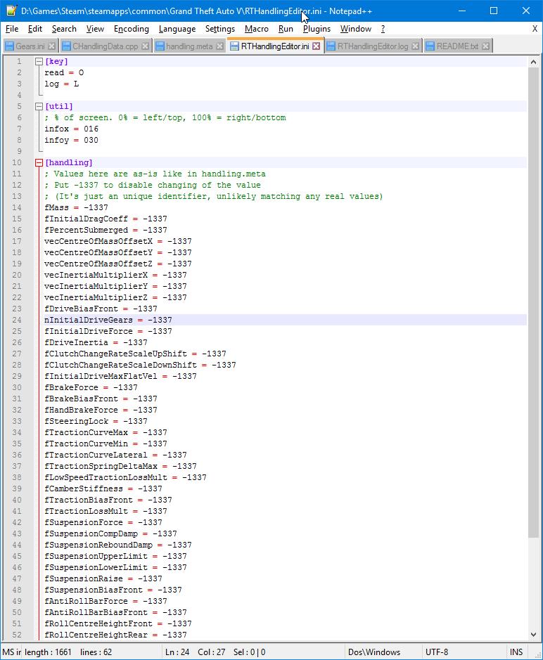 Real Time Handling Editor - GTA5-Mods com