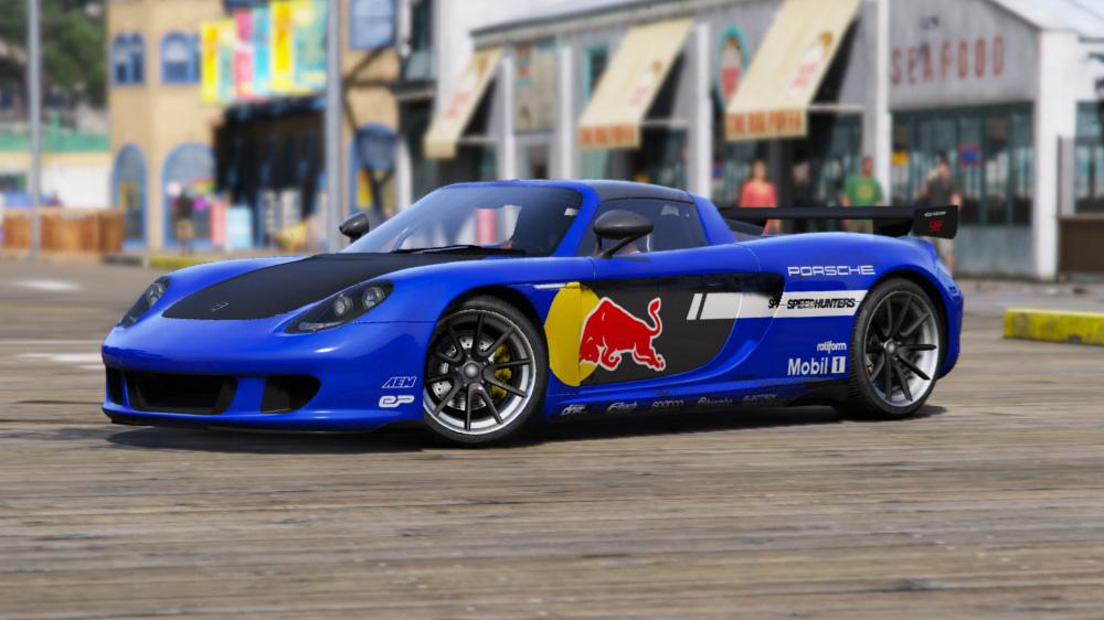 red bull livery for porsche carrera gt gta5. Black Bedroom Furniture Sets. Home Design Ideas