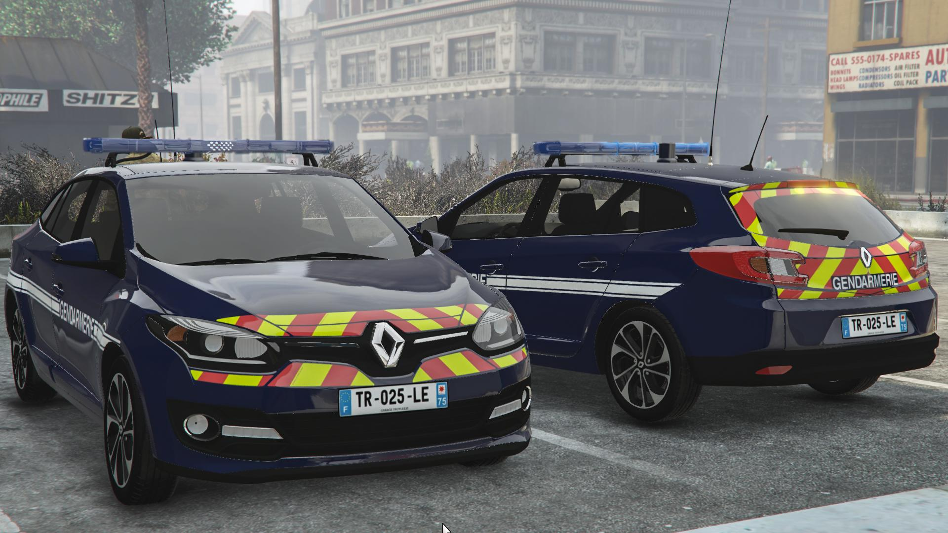 renault megane iii estate gendarmerie gta5. Black Bedroom Furniture Sets. Home Design Ideas